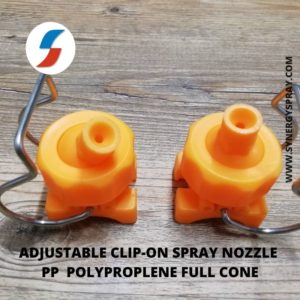 clip on plastic nozzle full cone jet nozzle