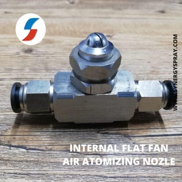 Internal Flat Fan air atomizing nozzle