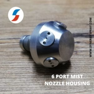 fire mist nozzle housing